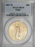 Modern Bullion Coins, 2007-W $50 One-Ounce Gold Eagle MS70 PCGS. PCGS Population (133/0).NGC Census: (0/0). Numismedia Wsl. Price for NGC/PCGS ...