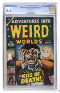 "Golden Age (1938-1955):Horror, Adventures Into Weird Worlds #23 Davis Crippen (""D"" Copy) pedigree(Atlas, 1953) CGC VF+ 8.5 Off-white pages...."