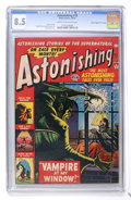 "Golden Age (1938-1955):Horror, Astonishing #18 Davis Crippen (""D"" Copy) pedigree (Atlas, 1952) CGCVF+ 8.5 Cream to off-white pages...."
