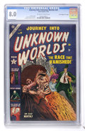 "Golden Age (1938-1955):Horror, Journey Into Unknown Worlds #20 Davis Crippen (""D"" Copy) pedigree(Atlas, 1953) CGC VF 8.0 Off-white to white pages...."