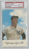 Baseball Cards:Singles (1970-Now), 1971 New York Yankees Mickey Mantle Clinic Schedule Postcard, PSANM-MT 8....