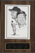 Baseball Collectibles:Others, Mickey Mantle Signed Art. ...