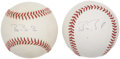 Autographs:Baseballs, Barry Bonds Single Signed Baseballs Lot of 2....