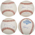Autographs:Baseballs, Star Player Single Signed Baseballs Lot of 4....