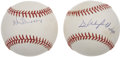 Autographs:Baseballs, Dave Winfield and Ken Griffey, Sr. Single Signed Baseballs Lot of2....