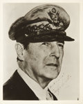 "Autographs:Military Figures, Douglas A. MacArthur Photograph Signed ""Best Wishes! DouglasMacArthur "". Matte finish black and white photographic prin..."