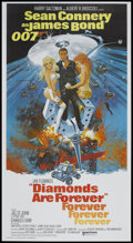 "Movie Posters:James Bond, Diamonds Are Forever (United Artists, 1971). Three Sheet (41"" X81""). James Bond...."