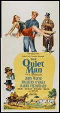 "Movie Posters:Drama, The Quiet Man (Republic, 1952). Three Sheet (41"" X 81""). Drama...."