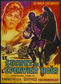 "Movie Posters:Adventure, The Secret of the Black Falcon (Siden Film, 1961). French Grande(47"" X 63""). Adventure...."