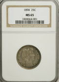 Barber Quarters, 1894 25C MS65 NGC....