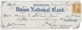 """Autographs:Military Figures, Philip H. Sheridan Autograph Check Signed """"P. H. Sheridan U. S.Army"""", Payable to and Endorsed by Henry Eugene Dav..."""