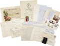 Miscellaneous:Ephemera, Lot of Early Family Items from Yosemite Park Ranger and PublisherCarl P. Russell. ...