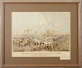 """Military & Patriotic:Indian Wars, Color Lithograph """"Execution of the Thirty-Eight Sioux Indians at Mankato, Minnesota December 26, 1862. ..."""