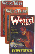 Pulps:Horror, Weird Tales Group (Popular Fiction, 1927-38) Condition: AverageGD.... (Total: 9 Items)