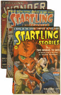 Pulps:Science Fiction, Science Fiction Pulps Group (Thrilling, 1941-43) Condition: AverageVG/FN.... (Total: 4 Items)