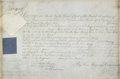 "Autographs:Non-American, George III Partially Printed Document Signed ""George R."" asthe King of England. One page, 13.25"" x 8.75"" (sight size), ..."