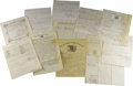 Military & Patriotic:Civil War, Collection of Civil War Era Documents and Manuscripts consisting of approximately 125 pieces of Union ephemera dating from 1...