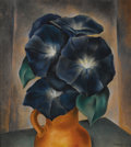 Texas:Early Texas Art - Regionalists, COREEN MARY SPELLMAN (1905-1978). Morning Glories, 1928. Oilon canvas. 22in. x 20in.. Signed and dated lower right. A...