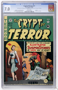 Crypt of Terror #17 (EC, 1950) CGC FN/VF 7.0 White pages