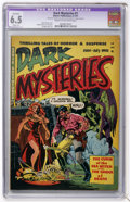 Golden Age (1938-1955):Horror, Dark Mysteries #1 (Master Publications, 1951) CGC Apparent FN+ 6.5Slight (P) Cream to off-white pages....