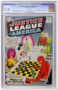 Justice League of America #1 (DC, 1960) CGC FN/VF 7.0 White pages