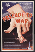 "Movie Posters:Documentary, Prelude to War (War Activities Committee, 1943). Academy Award OneSheet (27"" X 41""). War Documentary. Narrated by Walter Hu..."