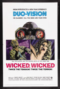 "Movie Posters:Mystery, Wicked, Wicked (MGM, 1973). One Sheet (27"" X 41""). Mystery.Starring David Bailey, Tiffany Bolling, Randy Roberts, Edd Byrne..."