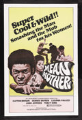 "Movie Posters:Blaxploitation, Mean Mother (Independent-International, 1974). One Sheet (27"" X41""). Blaxploitation. Starring Clifton Brown (Dobie Gray), D..."
