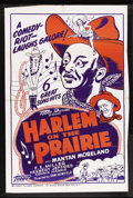 """Movie Posters:Black Films, Harlem on the Prairie (Toddy Pictures, R-1940s). One Sheet (27"""" X41""""). Black Musical Western. Starring Mantan Moreland, F.E..."""