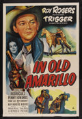 """Movie Posters:Western, In Old Amarillo (Republic, 1951). One Sheet (27"""" X 41""""). Western. Starring Roy Rogers, Trigger, Estelita Rodriguez, Penny Ed..."""