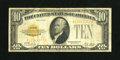 Small Size:Gold Certificates, Fr. 2400 $10 1928 Gold Certificate. Fine+....