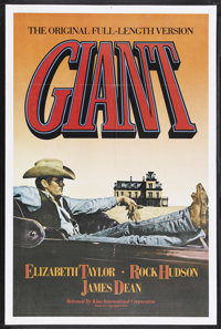 "Giant (Kino International, R-1982). One Sheet (27"" X 41""). Drama. Starring Elizabeth Taylor, Rock Hudson, Jame..."