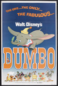 "Movie Posters:Animated, Dumbo (Buena Vista, R-1976). One Sheet (27"" X 41""). Animated.Starring John McLeish, Herman Bing, Edward Brophy, Margaret Wr..."