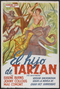 "Movie Posters:Adventure, The Son of Tarzan (Diamond Film, 1950s). Spanish One Sheet (29"" X43""). Adventure. Starring Eugene Burns, Johny Colloug and ..."