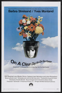 "On a Clear Day You Can See Forever (Paramount, 1970). One Sheet (27"" X 41""). Comedy. Starring Barbra Streisand..."