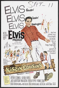 "Kissin' Cousins (MGM, 1964). One Sheet (27"" X 41""). Elvis Presley. Starring Elvis Presley, Arthur O'Connell, G..."
