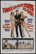 "Movie Posters:Elvis Presley, Fun in Acapulco/Girls! Girls! Girls! Combo (Paramount, R-1967). OneSheet (27"" X 41""). Elvis Presley. Starring Elvis Presley..."