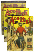 Pulps:Western, Ace-High Western Stories File Copies Group (Popular Publications, 1940-51) Condition: Average FN.... (Total: 90 Items)