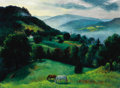 Fine Art - Painting, American:Modern  (1900 1949)  , ERNEST FIENE (American, 1894-1966). Sunrise, ConnecticutHills, circa 1935. Oil on canvas. Signed lower right: E.Fien...