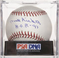 "Autographs:Baseballs, Phil Niekro ""H.O.F '97"" Single Signed Baseball, PSA Gem Mint 10...."