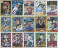 Autographs:Sports Cards, 1985-1988 Topps Baseball Signed Cards Collection (381). ...