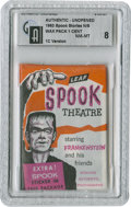 "Non-Sport Cards:General, 1963 Leaf ""Spook Stories"" 1-Cent Wax Pack GAI NM-MT 8. ..."