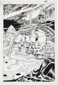 Original Comic Art:Splash Pages, Curt Swan and Al Vey Aquaman #1, Splash page 5 Original Art(DC, 1989)....