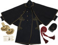 Military & Patriotic:Civil War, A Particularly Desirable Infantry Officer's Grouping Featuring an Appealing and Quite Scarce Example of a Custom Made Overcoat... (Total: 5 Items)
