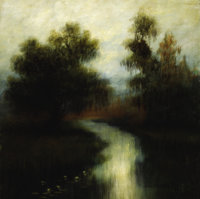 ALEXANDER JOHN DRYSDALE (American, 1870-1934) Louisiana Bayou, 1913 Oil on canvas Signed and date
