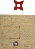 Military & Patriotic:Civil War, War Souvenirs of Pennsylvania Captain and Patriotic Cover Collection. Highlighting this group are two items associated with ...