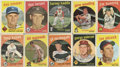 Autographs:Sports Cards, 1959 Topps Baseball Signed Cards Collection (250). ...