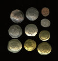 Ancients:Ancient Lots  , Ancients: Lot of ten miscellaneous Byzantine, including several AVand EL.... (Total: 10 coins)