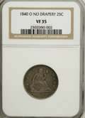 Seated Quarters: , 1840-O 25C No Drapery VF35 NGC. NGC Census: (1/86). PCGS Population(6/55). Mintage: 382,200. Numismedia Wsl. Price for NGC...