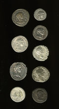 Ancients:Ancient Lots  , Ancients: Lot of nine Roman AR.... (Total: 9 coins)